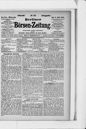 Berliner Börsen-Zeitung vom 08.07.1891