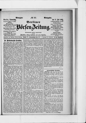 Berliner Börsen-Zeitung vom 09.07.1891