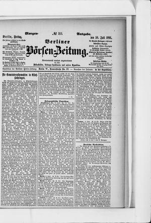 Berliner Börsen-Zeitung vom 10.07.1891