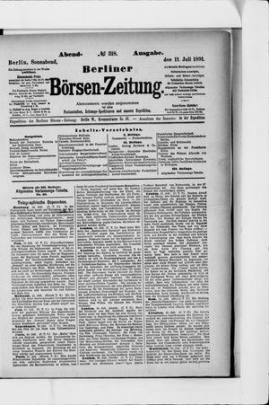 Berliner Börsen-Zeitung vom 11.07.1891