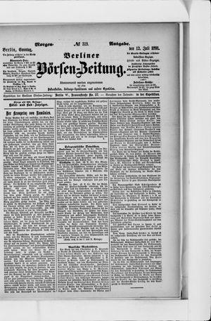 Berliner Börsen-Zeitung vom 12.07.1891
