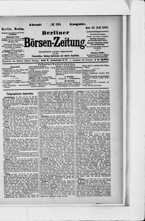 Berliner Börsen-Zeitung vom 13.07.1891