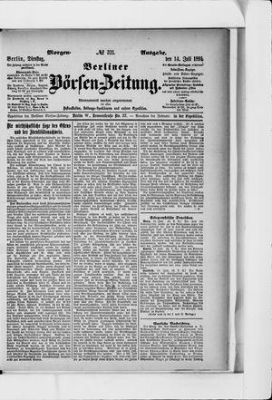 Berliner Börsen-Zeitung vom 14.07.1891