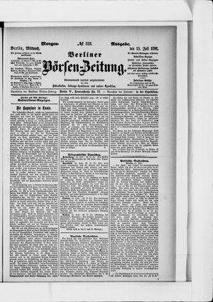 Berliner Börsen-Zeitung vom 15.07.1891