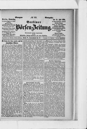 Berliner Börsen-Zeitung vom 16.07.1891