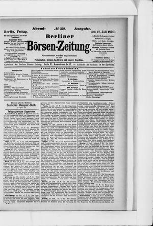 Berliner Börsen-Zeitung vom 17.07.1891