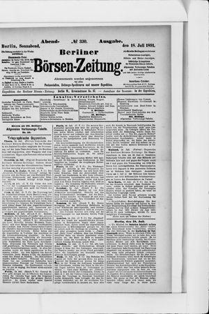 Berliner Börsen-Zeitung vom 18.07.1891