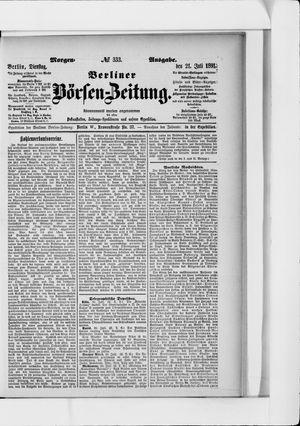 Berliner Börsen-Zeitung vom 21.07.1891