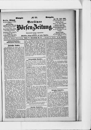 Berliner Börsen-Zeitung vom 22.07.1891