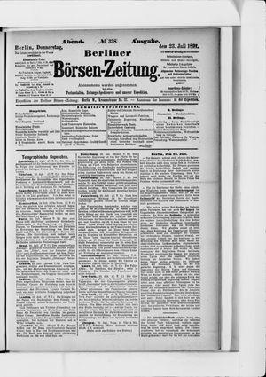 Berliner Börsen-Zeitung vom 23.07.1891