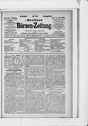 Berliner Börsen-Zeitung vom 24.07.1891