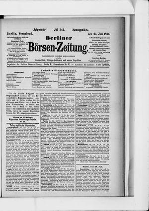 Berliner Börsen-Zeitung vom 25.07.1891