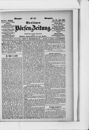 Berliner Börsen-Zeitung vom 28.07.1891