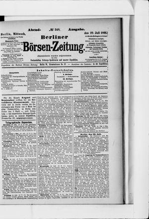 Berliner Börsen-Zeitung vom 29.07.1891