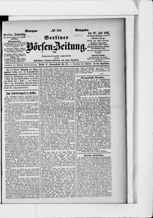Berliner Börsen-Zeitung vom 30.07.1891