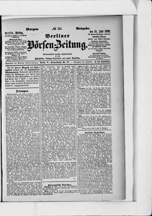 Berliner Börsen-Zeitung vom 31.07.1891