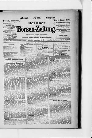 Berliner Börsen-Zeitung on Aug 1, 1891