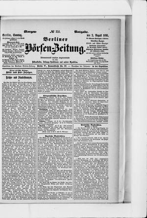 Berliner Börsen-Zeitung vom 02.08.1891