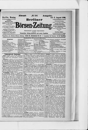 Berliner Börsen-Zeitung vom 03.08.1891
