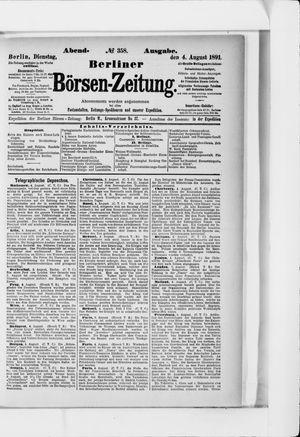 Berliner Börsen-Zeitung vom 04.08.1891