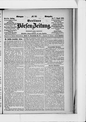 Berliner Börsen-Zeitung vom 07.08.1891