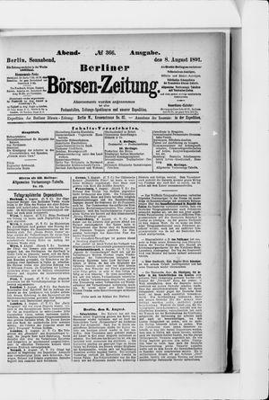 Berliner Börsen-Zeitung vom 08.08.1891
