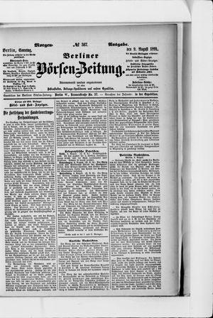 Berliner Börsen-Zeitung vom 09.08.1891