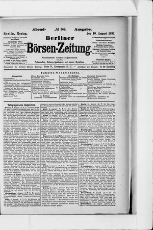 Berliner Börsen-Zeitung on Aug 10, 1891