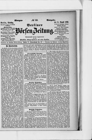 Berliner Börsen-Zeitung vom 11.08.1891