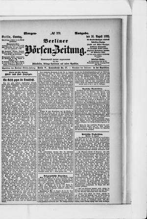 Berliner Börsen-Zeitung vom 16.08.1891