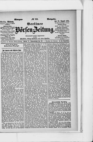 Berliner Börsen-Zeitung on Aug 19, 1891