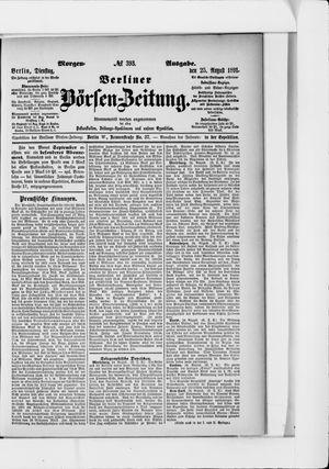 Berliner Börsen-Zeitung vom 25.08.1891