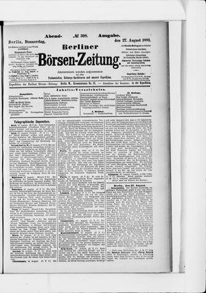 Berliner Börsen-Zeitung vom 27.08.1891