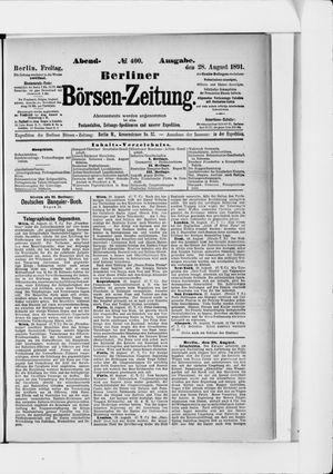 Berliner Börsen-Zeitung vom 28.08.1891