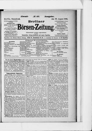 Berliner Börsen-Zeitung on Aug 29, 1891