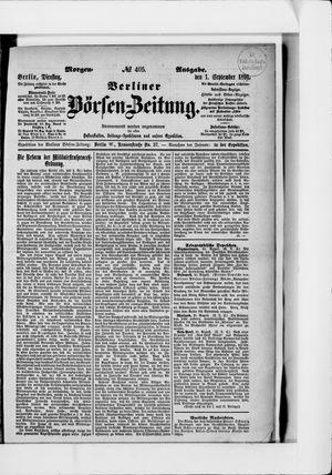 Berliner Börsen-Zeitung vom 01.09.1891
