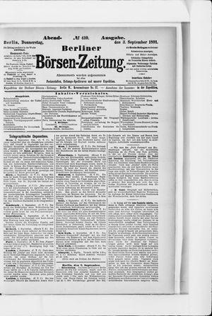 Berliner Börsen-Zeitung vom 03.09.1891