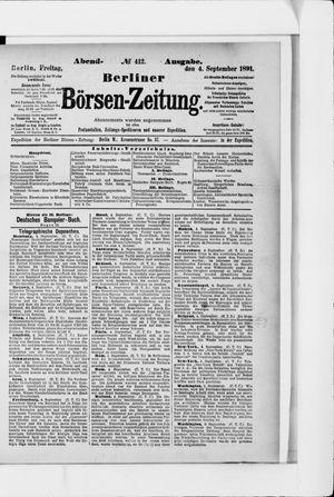 Berliner Börsen-Zeitung vom 04.09.1891
