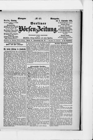 Berliner Börsen-Zeitung vom 06.09.1891