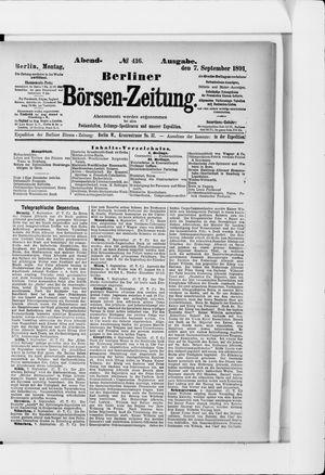 Berliner Börsen-Zeitung vom 07.09.1891