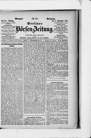 Berliner Börsen-Zeitung vom 08.09.1891