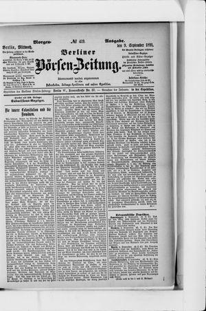 Berliner Börsen-Zeitung vom 09.09.1891