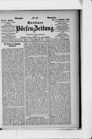 Berliner Börsen-Zeitung vom 11.09.1891