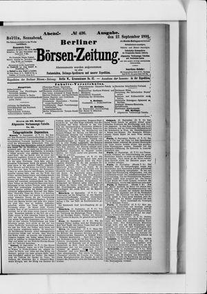 Berliner Börsen-Zeitung vom 12.09.1891