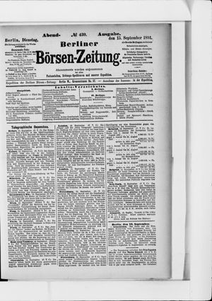 Berliner Börsen-Zeitung vom 15.09.1891