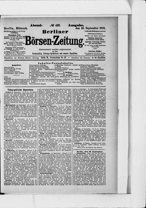 Berliner Börsen-Zeitung vom 16.09.1891