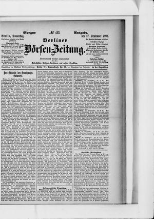 Berliner Börsen-Zeitung on Sep 17, 1891