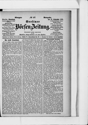 Berliner Börsen-Zeitung vom 19.09.1891