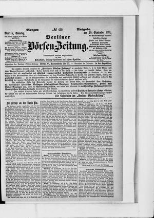 Berliner Börsen-Zeitung vom 20.09.1891