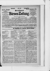 Berliner Börsenzeitung (22.09.1891)